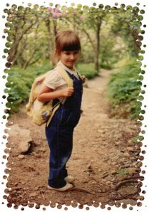 Revealing my age, here...On the hiking trail, circa 1991.