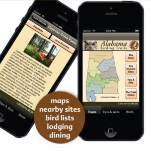An app developed for the Alabama Birding Trails