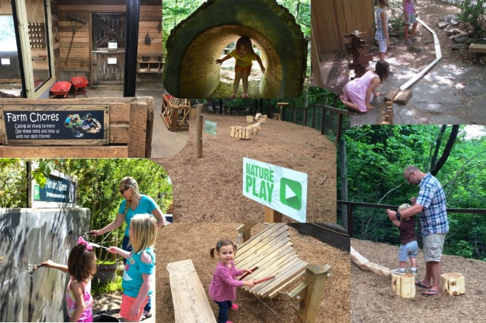 Nature Play areas at the WNC Nature Center